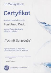 Certyfikat Ani2